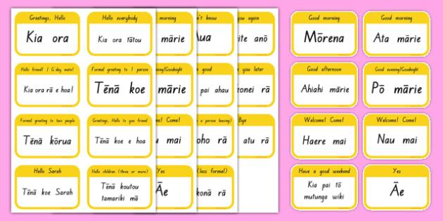 Mori greeting flashcards te reo maori resources m4hsunfo