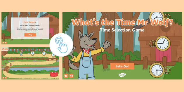 What S The Time Mr Wolf Game O Clock Ks1 Resources