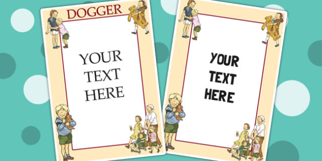 Editable Posters to Support Teaching on Dogger - poster, display, displays, edit, dogger