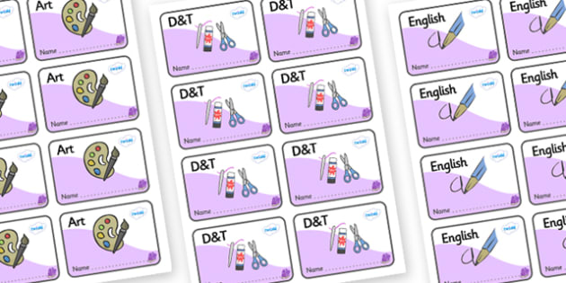 Amethyst Themed Editable Book Labels - Themed Book label, label, subject labels, exercise book, workbook labels, textbook labels