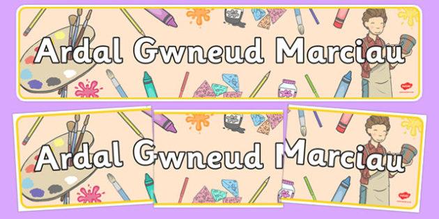 Baner Ardal Gwneud Marciau - welsh, cymraeg, baner, ardal, gwneud, marciau