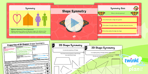 PlanIt Maths Y4 Properties of Shapes Lesson Pack Symmetry in 2D Shapes