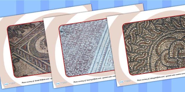 Roman Mosaics Display Photos - Photos- romans, mosaics, photos, display