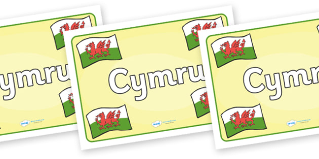 Wales Placemat - Welsh, cymru, Wales, placemat, mat, display, banner, sign