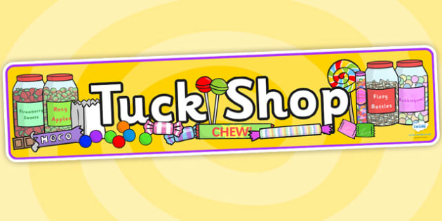 tuck shop display banner