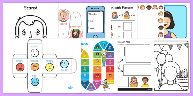 Top Ten Emotions Activity Pack - Emotions, feelings, all about me