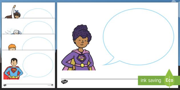 NEW * Superhelden-Sprechblasen zum Selbstgestalten