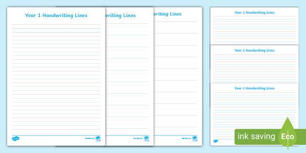 Handwriting Lines - Handwriting Sheets Year 1 Twinkl