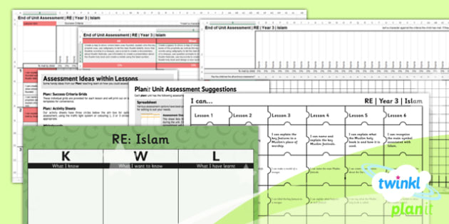 RE: Islam Year 3 Unit Assessment Pack