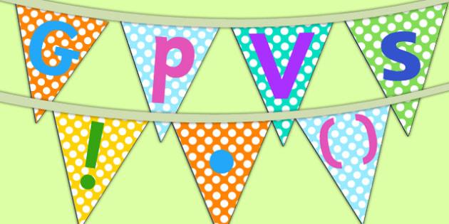 GPVS Display Bunting - gpvs, displau bunting, display, bunting, classroom