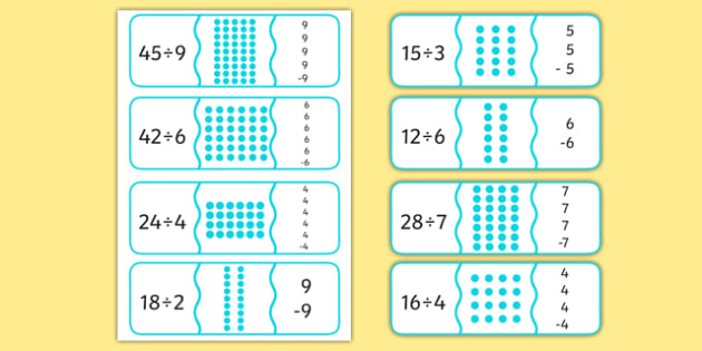 Division Array Matching Puzzle Game - division array, matching puzzle, match, game, activity