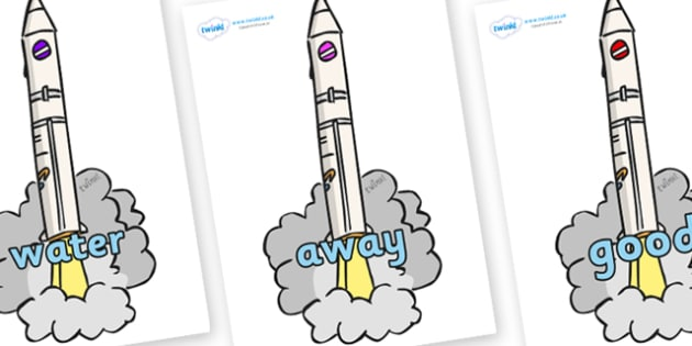 Next 200 Common Words on Launching Rockets - Next 200 Common Words on  - DfES Letters and Sounds, Letters and Sounds, Letters and sounds words, Common words, 200 common words