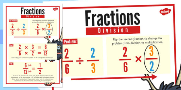 Fractions Division Display Poster - fractions, division, display, Introduction to Division
