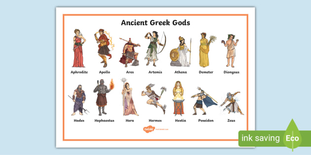 Ancient Greek Gods Word Mat Teacher Made