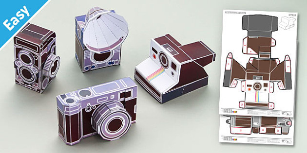 graphic regarding Camera Printable named Enkl Typical Digicam Paper Fashion Printables - Enkl, arts