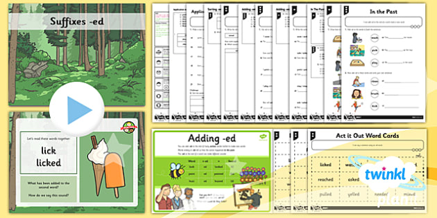 PlanIt Y1 SPaG Lesson Pack: Suffixes ed - GPS, verb, grammar, spelling