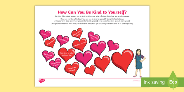* NEW * Being Kind To Yourself Activity Sheet - young people