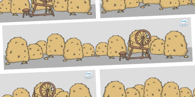 Rumpelstiltskin Small World Background - Rumpelstiltskin, miller, miller's daughter, spinning wheel, backdrop, background, scenery, small world area, small world display, small world resources, forest, straw, gold, child, spinning, queen, woods, ring