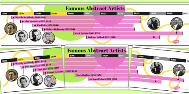 Abstract Artist Time Line - abstract, artists, time line, time