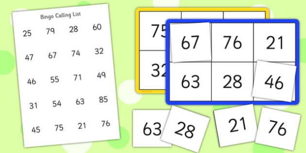 Bingo and Lotto Game 20-100 - bingo, lotto, game, 20, 100, number