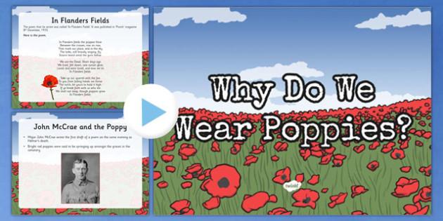 Why Do We Wear Poppies? PowerPoint New Zealand, Anzac, Poppy