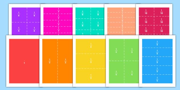 Fraction Rectangle Puzzles - fraction, rectangle, puzzles, activity