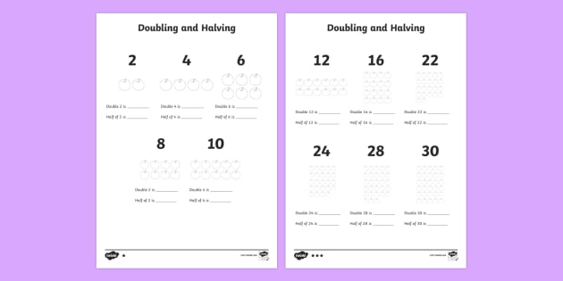 KS1 Doubling and Halving Worksheet - Primary Resources