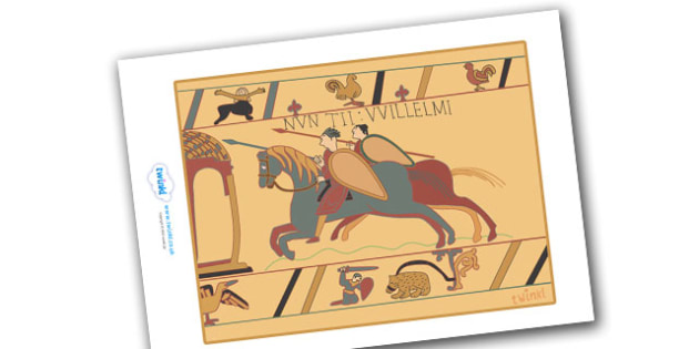 Anglo Saxons Bayeux Tapestry Display Poster - Anglo Saxon, Saxons, Anglo-saxon, history, display, posters, sign, Northumbria, Kent, bronze helmet, East Anglia, Bayeux Tapestry, St. Bede, Offa's Duke, jewellery, Wessex, Sutton Hoo, Kent