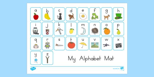A Z Alphabet Mat - a-z, alphabet, alphabet mat, visual aid, write