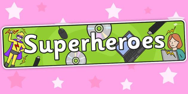 Superheroes Themed Banner - superhero, header, display