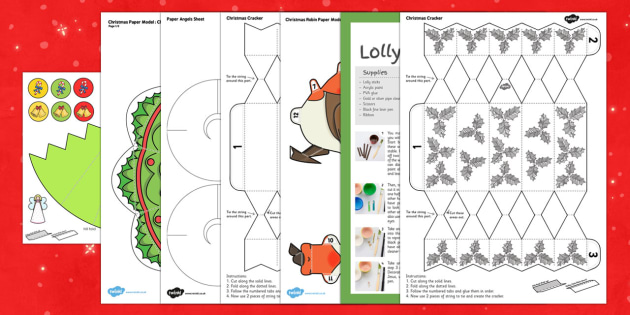 Top Ten KS2 Christmas Craft  Activity Pack