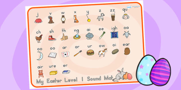 Easter Level One Sound Mat - easter, level one, sound mat, sounds