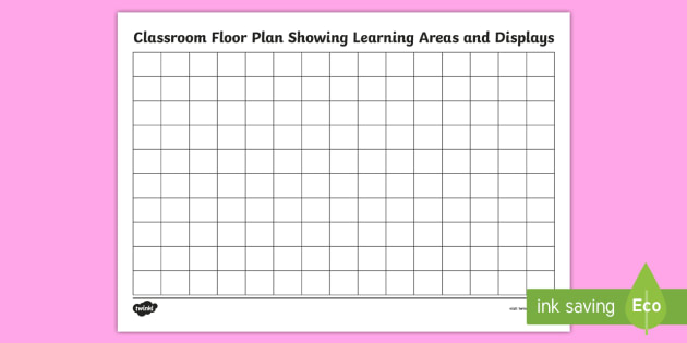 Classroom Floor Plan Display And Learning Areas Planning Template