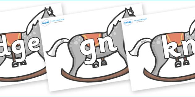 Silent Letters on Rocking Horses - Silent Letters, silent letter, letter blend, consonant, consonants, digraph, trigraph, A-Z letters, literacy, alphabet, letters, alternative sounds
