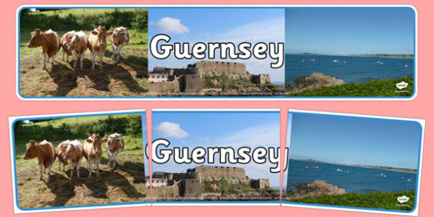 Guernsey Photo Display Banner - geography, united kingdom, UK, island, map, world, country