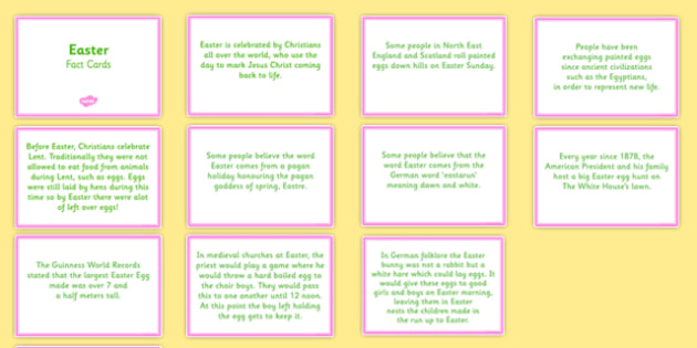 Amazing Easter Display Fact Cards - easter, display, facts