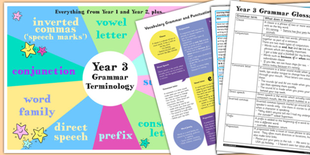 Use Understand Grammatical Terminology Appendix KS2 Y3 Ideas Pack