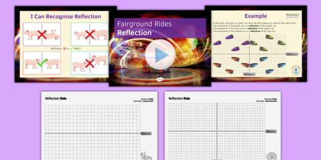 Fairground Rides Reflection SEN MLD - maths, KS3, SEN, MLD, geometry, transformations, translation, reflection, project,