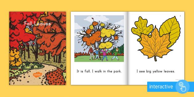 Fall Leaves Emergent Reader eBook - emergent reader, fall, seasons, leaves, colorful leaves