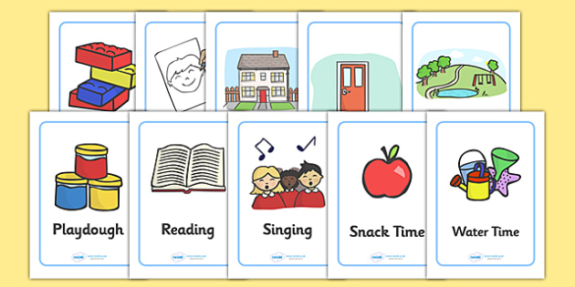 Nursery / Foundation Stage 1 A4 Daily Routine Cards - Visual Timetable, SEN, Daily Timetable, School Day, Daily Activities, Daily Routine, Foundation Stage