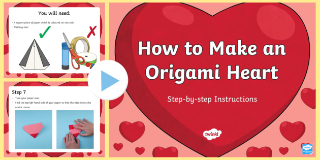 5 origami Heart Instructions Notebook Paper | Origami heart ... | 315x630