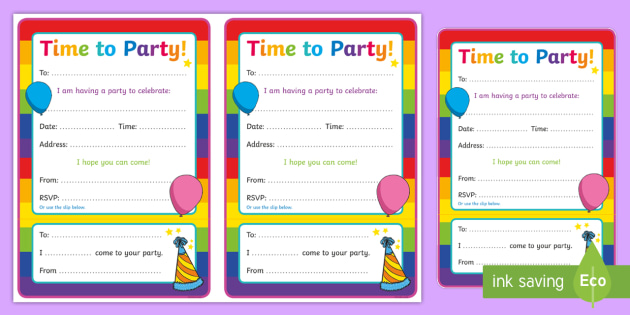 Generic Party Invitations
