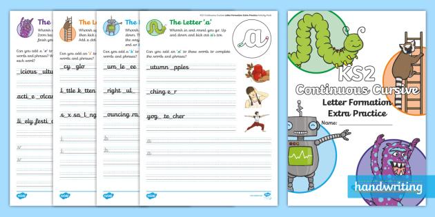 ks2 continuous cursive letter formation extra practice activity booklet. Black Bedroom Furniture Sets. Home Design Ideas