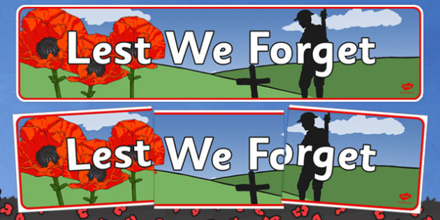 Anzac Day Lest We Forget Display Banner - anzac day, australia