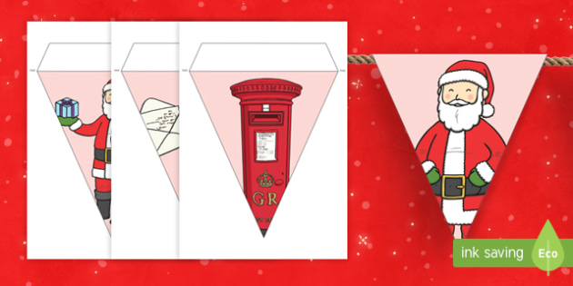 To father christmas display bunting letters to father christmas display bunting spiritdancerdesigns Choice Image