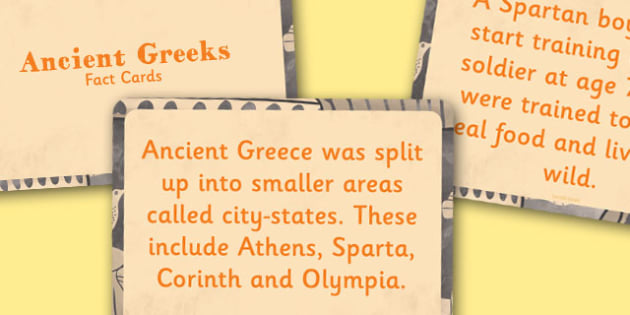 Amazing Ancient Greece Display Fact Cards - Ancient Greece