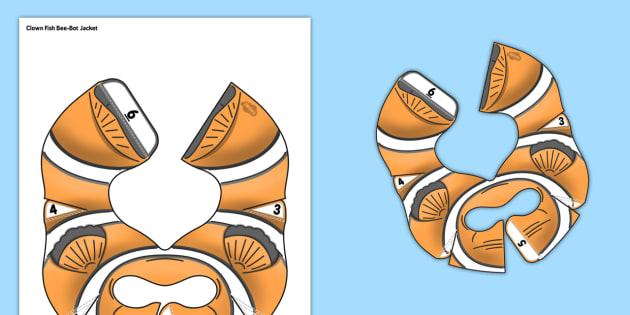 Clownfish Bee-Bot Jacket - clown fish, bee bot, beebot, bee-bot, activity, jacket