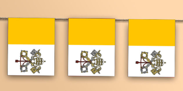 Vatican Flag Bunting - world, geography