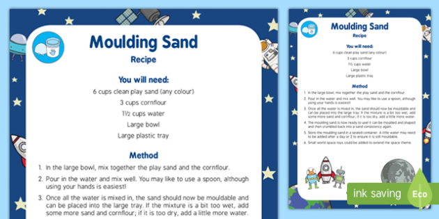 Moulding Sand Recipe