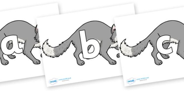 Phoneme Set on Wolf - Phoneme set, phonemes, phoneme, Letters and Sounds, DfES, display, Phase 1, Phase 2, Phase 3, Phase 5, Foundation, Literacy